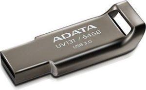 Pendrive Adata USB UV131 Classic 64GB Szary Aluminium (AUV13164GRGY)