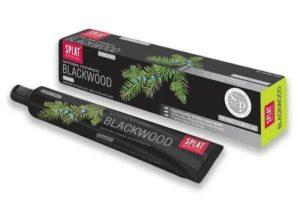 Splat Blackwood Silnie wybielająca pasta do zębów bez fluoru w kolorze Czarnym 75ml