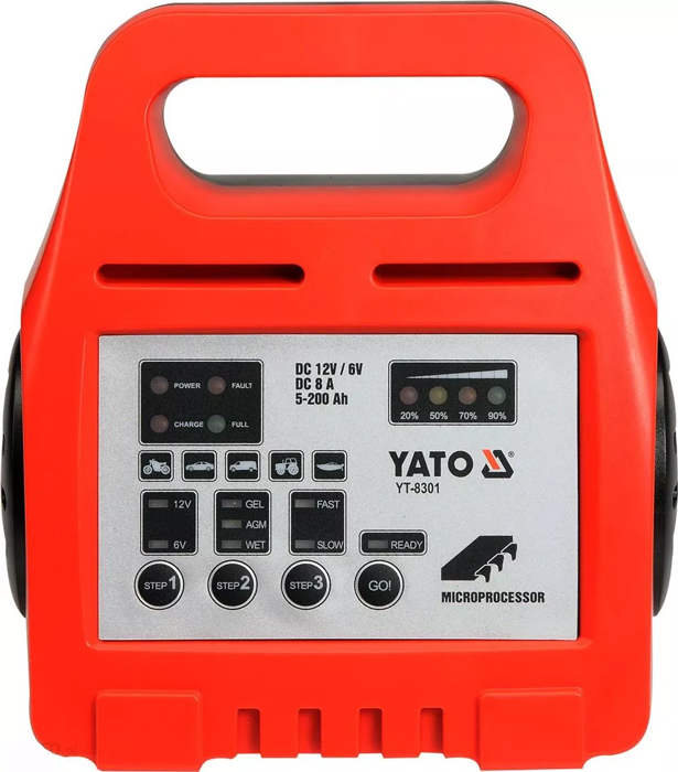 Yato Prostownik Elektroniczny 6/12V 8A 5-200Ah (Yt-8301)
