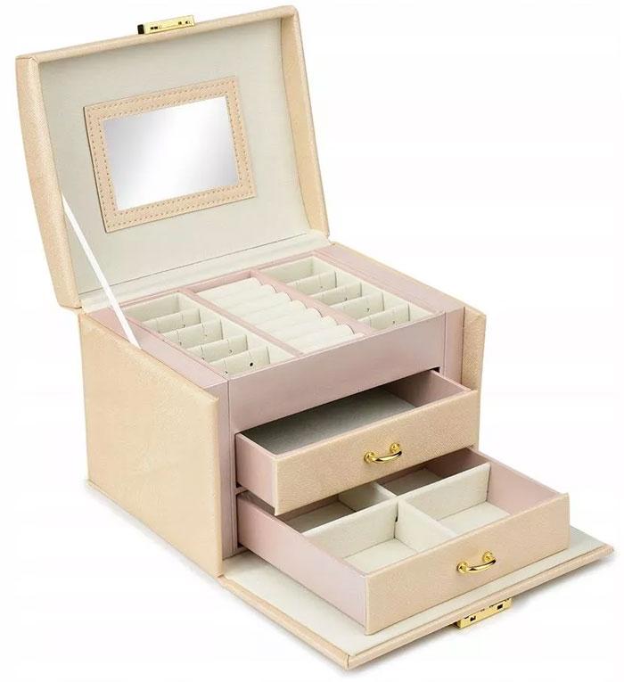 Szkatułka kuferek kasetka na biżuterię