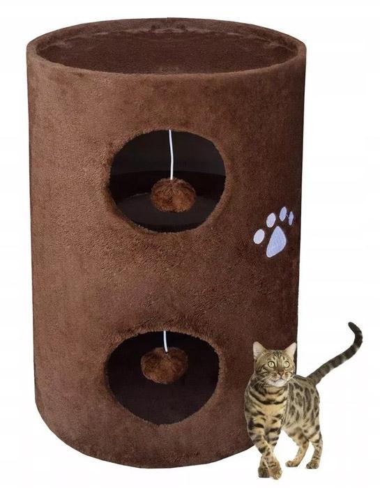 Legowisko dla kota / Drapak/Tuba/Wieża 58cm brązowy HD17028