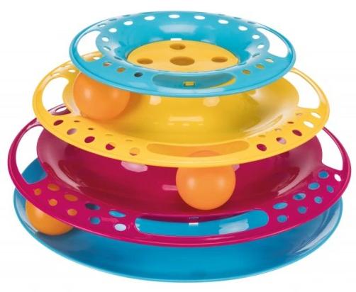 Trixie Wieża do zabawy dla kota plastik 25cm