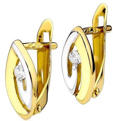 Biżuteria SAXO 14K Kolczyki z diamentami CK-8 Złoto