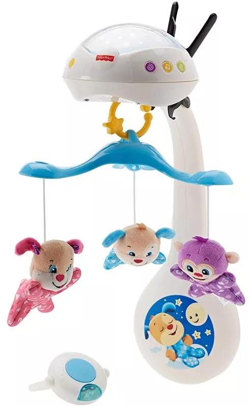 Projektor Fisher-Price seria Ucz się i śmiej Karuzelka z projektorem w1 Zabawka edukacyjna FWR92
