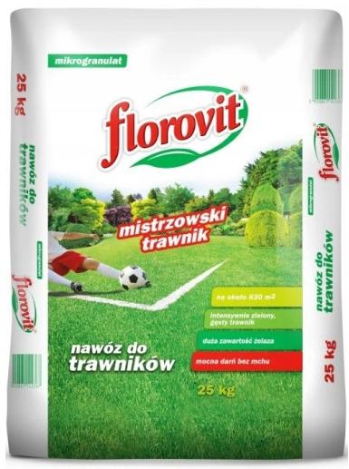 Nawóz do trawy Florovit Nawóz Do Trawników Z Mchem (duża Zawartość Żelaza) 25kg