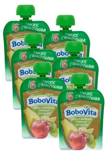 Deserek Bobovita Deser W Tubce Jabłko Awokado I Zielone Warzywa Po 6 Miesiącu 80g