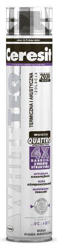 Pianka Ceresit Whiteteq Quattro Montażowa Pistoletowa 750ml