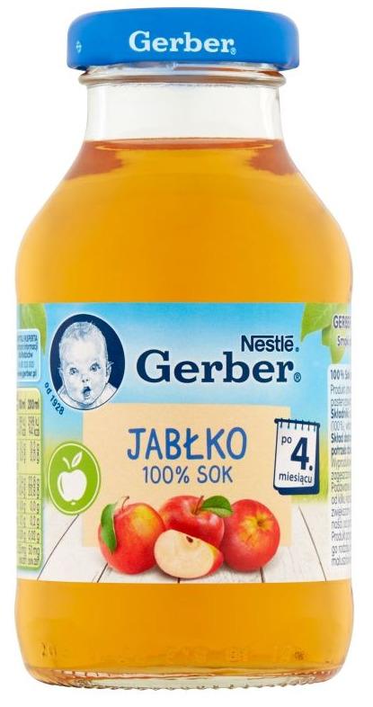 Sok dla dzieci i niemowląt Gerber Sok 100% Jabłko Dla Niemowląt Po 4 Miesiącu 200 ml