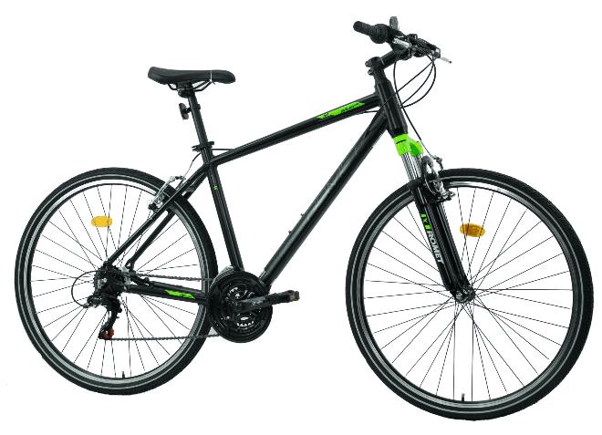 Rower trekkingowy Romet Orkan Ltd M Czarny Zielony 28