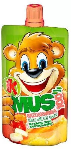Deserek Tymbark Kubuś Mus 100% Z Owoców oraz Marchwi Jabłko Banan Truskawka Marchew 100g