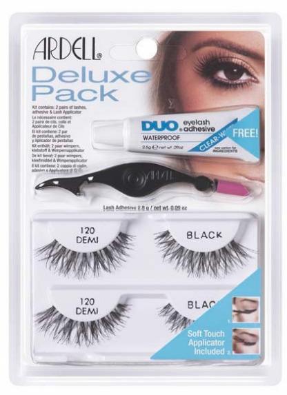 Sztuczne rzęsy Ardell Deluxe Pack Zestaw: 120 Demi Black + Klej DUO + Aplikator
