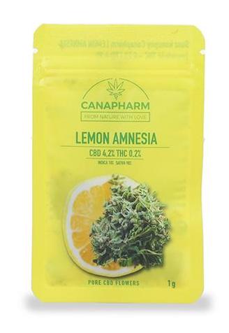 Susz Canapharm konopny Lemon Amnesia CBD 4,2% THC 0,2% - 1 g