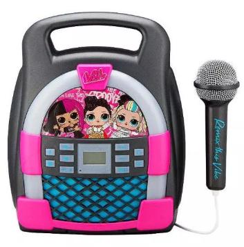 Mikrofon dla dzieci Ekids Zestaw do karaoke z mikrofonem, MP3, Bluetooth + efekty świetlne LOL LL-553