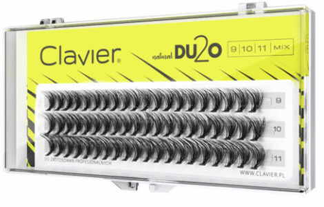 Kępki Rzęs Clavier 10 mm D2UO Double Volume