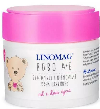 Krem nawilżający dla dzieci Linomag Bobo A+E 50ml