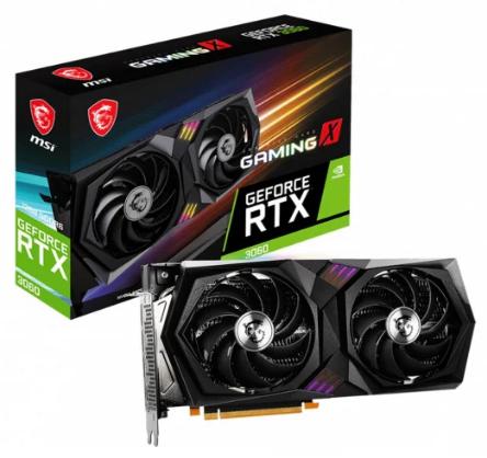 Karta MSI GeForce RTX 3060 Gaming X 12GB GDDR6