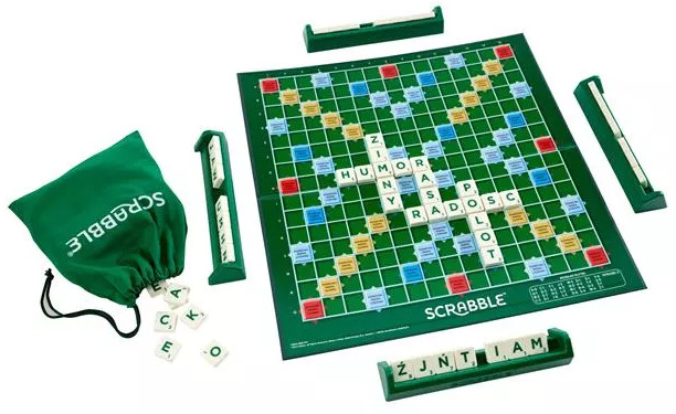 Gra planszowa dla 2 osób Mattel Scrabble Original