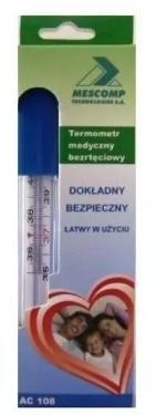 Termometr MesMed MM 109 Szklany bezrtęciowy