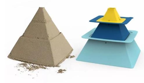 Zabawka do piaskownicy Quut Foremki Pira Do Budowy Piramid