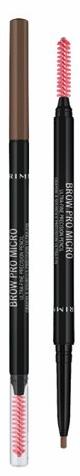 Kredka Rimmel Brow Pro Micro Do Brwi Automatyczna Z Szczoteczką 002 Soft Brown 0,09g