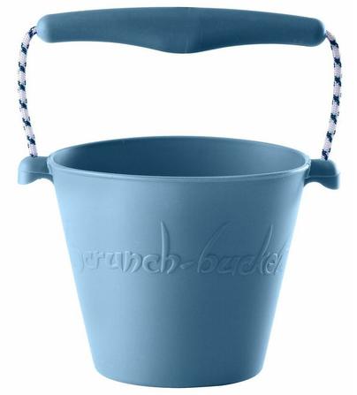 Zabawka Scrunch Zwijane Wiaderko Silikonowe Błękitne Scrunch-Bucket