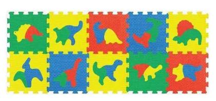 Puzzle piankowe dla dzieci Smily Mata piankowa dinozaury 64x160cm