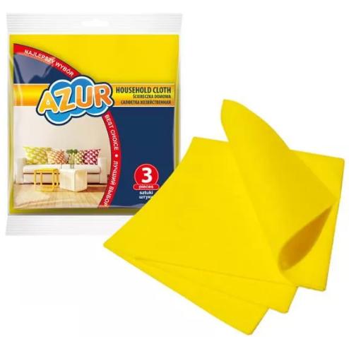 Ściereczka do sprzątania York Ścierki Kuchenne Uniwersalne Azur Żółte 3 Szt.