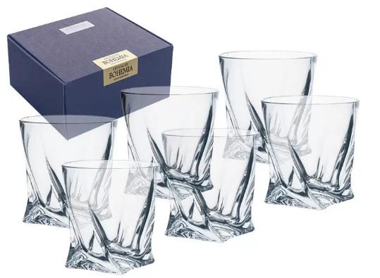 Szklanki Bohemia Quadro Do Whisky 340ml 6szt.