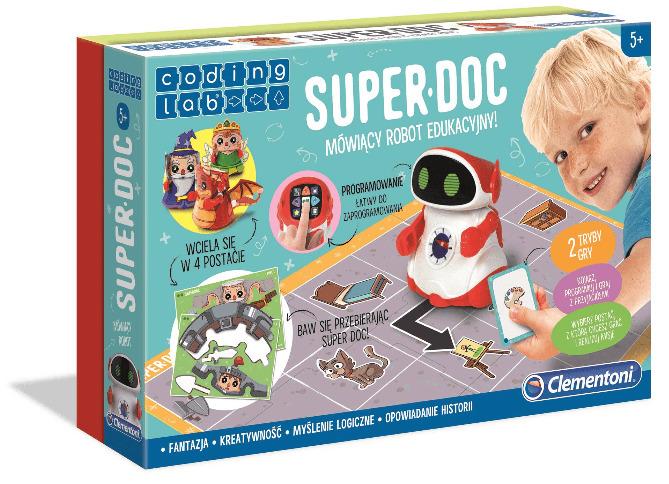Clementoni Robot Educkayjny Mówiący Super Doc