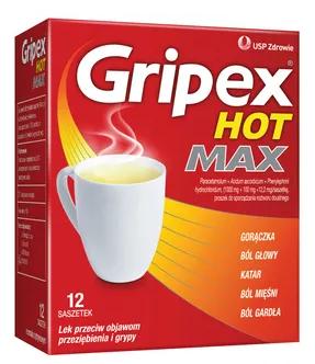 Lek Gripex Hot Max 12 sasz.