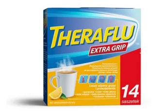 Lek na przeziębienie Theraflu Extra Grip 14 saszetek