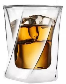 Szklanka do whisky Vialli Design Termiczna Z Podwójną Ścianką Cristallo 300Ml