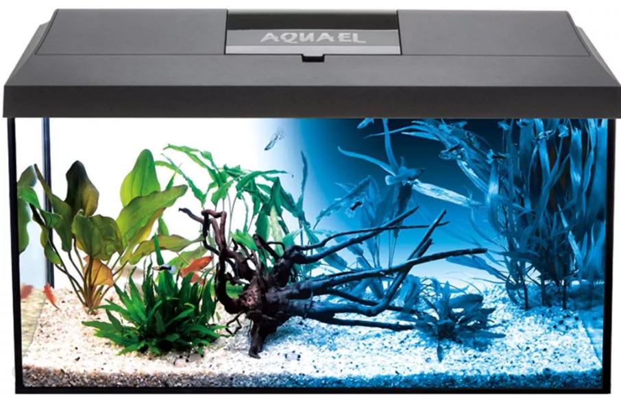 Akwarium Aquael Leddy Day&Night 60 Z Wyposażeniem 54L Czarne