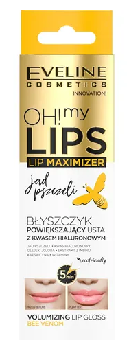 Eveline Cosmetics Oh! My Lips Lip Maximizer Bee Wenom Błyszczyk Powiększający Usta Kwas Hialuronowy i Jad Pszczeli 4,5ml