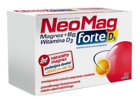 Witamina D3 Neomag Forte D3 Tabletki na niedobór magnezu i witaminy D3