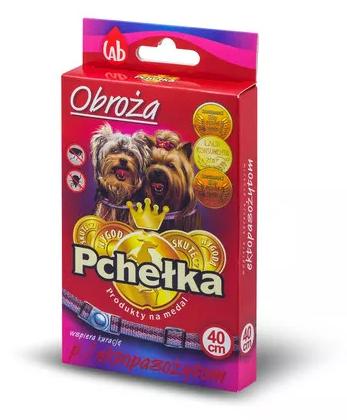Pchełka Obroża owadobójcza dla psów przeciw pchłom i kleszczom 40cm