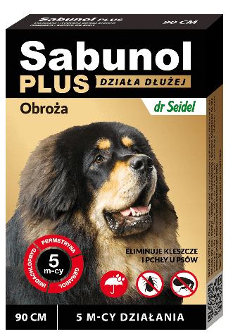 Obroża przeciw kleszczom i pchłom Sabunol 90cm