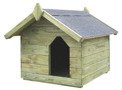 Buda dla psa Vidaxl Z Otwieranym Dachem Impregnowane Drewno Sosnowe 104,5x153,5x94cm