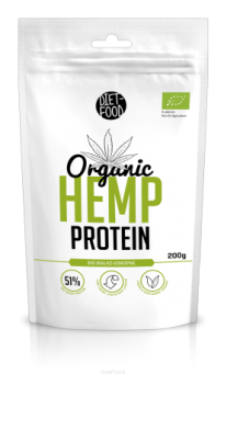 Białko Diet Food Bio Hemp Protein Białko Konopne 200G